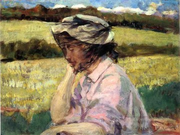 James Painting - Lost in Thought impressionist James Carroll Beckwith
