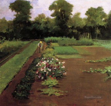 new orleans Painting - New Hamburg Garden James Carroll Beckwith