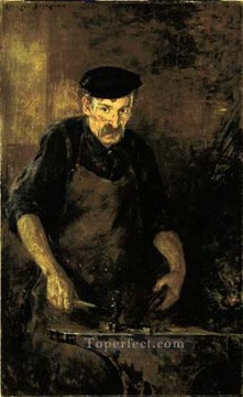 on canvas - The Blacksmith impressionist James Carroll Beckwith