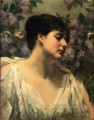 Under the Lilacs impressionist James Carroll Beckwith