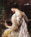 Woman with Guitar impressionist James Carroll Beckwith
