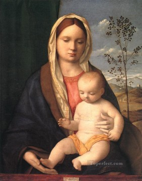 Madonna and child Renaissance Giovanni Bellini Oil Paintings