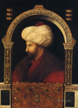 Portrait of Mehmer II Renaissance Giovanni Bellini Oil Paintings
