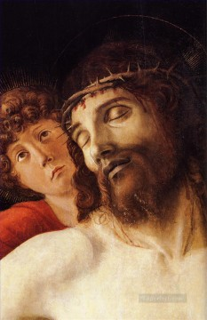 Angels Works - The dead christ supported by two angels dt1 Renaissance Giovanni Bellini