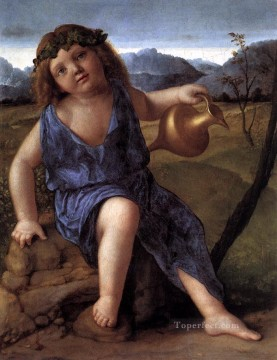 Young Bacchus Renaissance Giovanni Bellini Oil Paintings