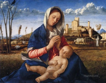 The virgin and child Renaissance Giovanni Bellini Oil Paintings
