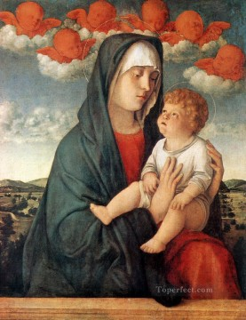 Madonna of the red angels Renaissance Giovanni Bellini Oil Paintings