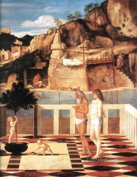 Sacred allegory Renaissance Giovanni Bellini Oil Paintings