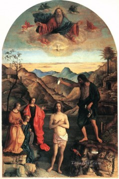 Baptism of Christ Renaissance Giovanni Bellini Oil Paintings