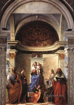 San Zaccaria altarpiece Renaissance Giovanni Bellini Oil Paintings