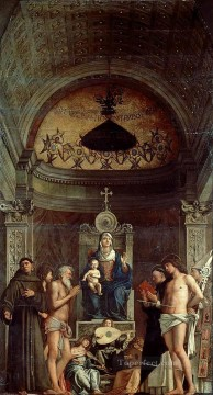 San giobbe altarpiece Renaissance Giovanni Bellini Oil Paintings
