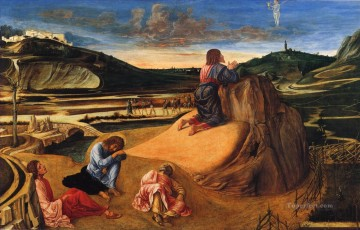The agony in the garden Renaissance Giovanni Bellini Oil Paintings