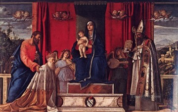 Altarpiece Painting - Barbarigo altarpiece Renaissance Giovanni Bellini