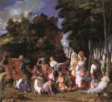 Feast of the Gods Renaissance Giovanni Bellini Oil Paintings