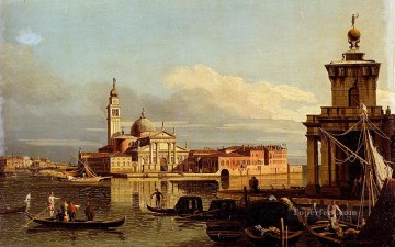 Lotto Art Painting - A View In Venice From The Punta Della Dogana Towards San Giorgio Maggiore urban Bernardo Bellotto