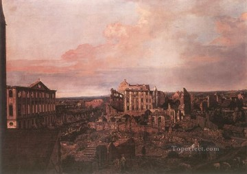 Bernardo Art Painting - Dresden The Ruins Of The Pirnaische Vorstadt urban Bernardo Bellotto