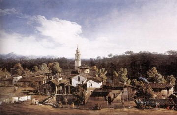 View Of Gazzada Near Varese urban Bernardo Bellotto Oil Paintings