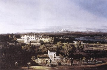 Lotto Art Painting - View Of The Villa Cagnola At Gazzada Near Varese urban Bernardo Bellotto