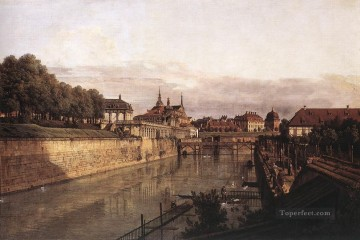Bernardo Art Painting - Zwinger Waterway urban Bernardo Bellotto