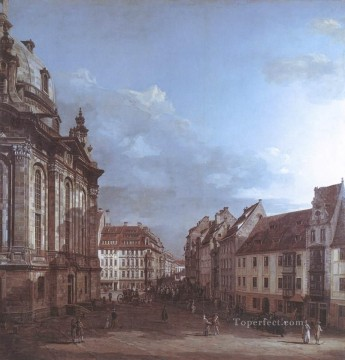 Bernardo Art Painting - Dresden The Frauenkirche And The Rampische gasse urban Bernardo Bellotto