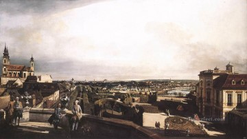 Lotto Art Painting - Vienna Panorama From Palais Kaunitz urban Bernardo Bellotto