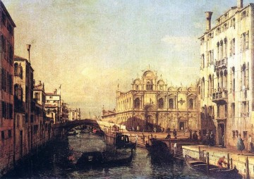 Lotto Art Painting - The Scuola Of San Marco urban Bernardo Bellotto