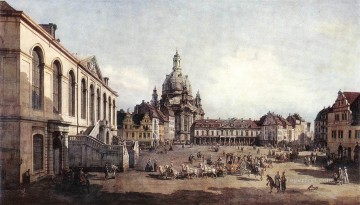 Bernardo Art Painting - New Market Square In Dresden From The Judenhof urban Bernardo Bellotto
