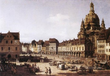 Bernardo Art Painting - New Market Square In Dresden urban Bernardo Bellotto