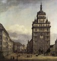 The Kreuzkirche In Dresden urban Bernardo Bellotto