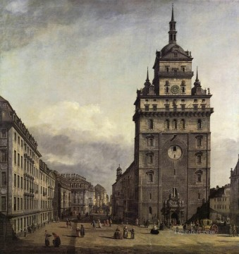 Bernardo Art Painting - The Kreuzkirche In Dresden urban Bernardo Bellotto