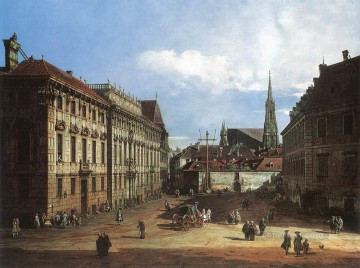 Bernardo Art Painting - Vienna The Lobkowitzplatz urban Bernardo Bellotto
