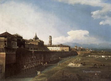 Lotto Art Painting - View Of Turin Near The Royal Palace urban Bernardo Bellotto