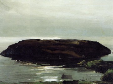 Sea Painting - An Island in the Sea Realist landscape George Wesley Bellows