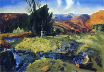 George Wesley Bellows Painting - Autumn Brook Realist landscape George Wesley Bellows