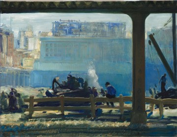 George Wesley Bellows Painting - Blue Morning 1909 George Wesley Bellows