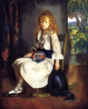 George Painting - Anne in White Realist Ashcan School George Wesley Bellows