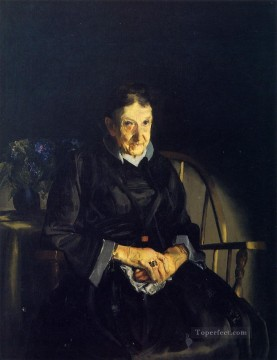 lady painting - Aunt Fanny aka Old Lady in Black Realist Ashcan School George Wesley Bellows