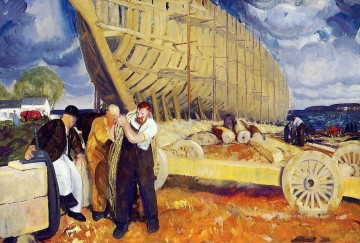 ships Art - Builders of Ships George Wesley Bellows