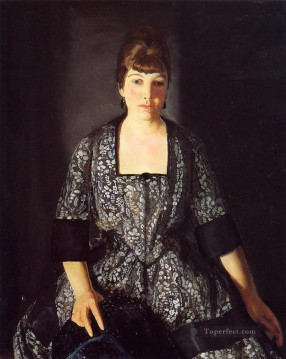 George Wesley Bellows Painting - Emma in the Black Print Realist Ashcan School George Wesley Bellows
