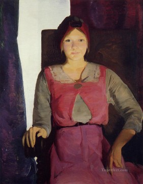 George Wesley Bellows Painting - Garaldine Lee No 2 Realist Ashcan School George Wesley Bellows