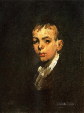 George Wesley Bellows Painting - Head of a Boy aka Gray Boy Realist Ashcan School George Wesley Bellows
