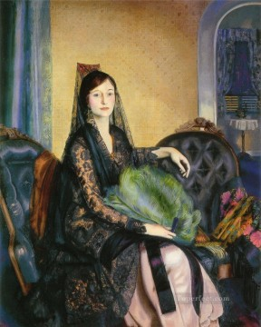 Portrait Painting - Portrait of Elizabeth Alexander Realist Ashcan School George Wesley Bellows