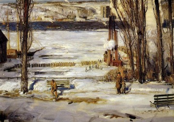 George Wesley Bellows Painting - A Morning Snow Realist landscape George Wesley Bellows