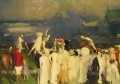 Polo Crowd Realist Ashcan School George Wesley Bellows