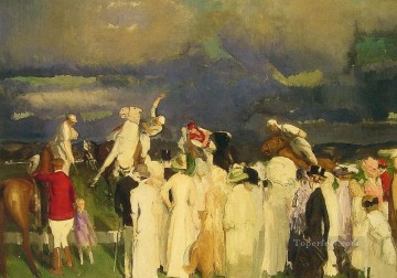 Row Painting - Polo Crowd Realist Ashcan School George Wesley Bellows