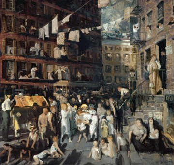 1913 Oil Painting - Cliff Dwellers 1913 George Wesley Bellows
