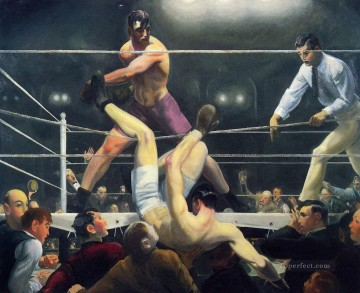 George Wesley Bellows Painting - Dempsey and Firpo 1924 George Wesley Bellows
