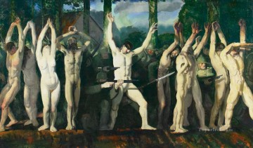 George Wesley Bellows Painting - The Barricade George Wesley Bellows