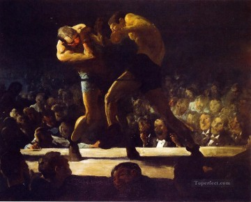 George Wesley Bellows Painting - Club Night aka Stag Night at Sharkeys Realist Ashcan School George Wesley Bellows