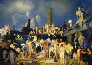 George Wesley Bellows Painting - River Front 1 1915 George Wesley Bellows